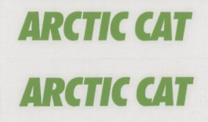 2x Arctic Cat 6 Lime Green Decals Stickers For Snowmobile Truck Window
