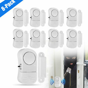 8x Magnetic Sensor Alarm Door Window Anti theft Alarm System Home Security Tool