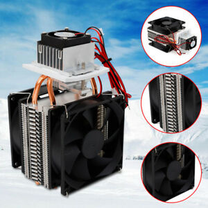 Thermoelectric Peltier Refrigeration Cooling System Kit Semiconductor Cooler 12v