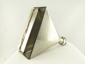 Custom Fabrication 18 X 5 Open Stainless Steel Material Funnel To 3 Opening