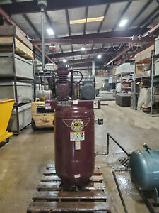 Quincy Air Compressor 5hp Two Stage 230v 80 Gallon With Extra Holding Tank