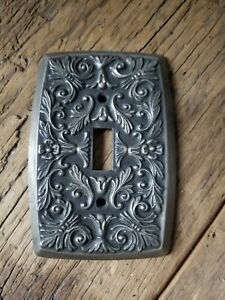 Vintage Brass Single Switch Plate Cover Ornate