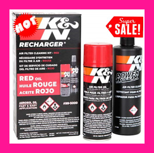 K N Air Filter Cleaning Cleaner Recharger Kit With Oil Spray Can 99 5050