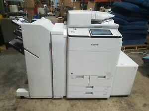 Canon Ir Advance C7570i Iii 70ppm Color Printer Scan Fax W finisher 5k Pages