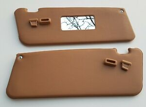 Mercedes Benz R107 New Sun Visor Palomino With Clips Set