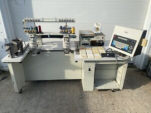 Barudan Beat At 102 uf 10 Needle 2 Head Commercial Embroidery Machine 12 Fonts