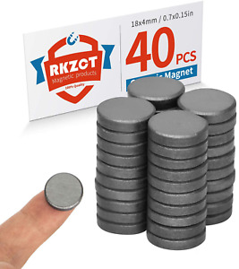 Rkzct Round Ceramic Magnets Crafts Small Circle Magnet Diy By Hand Magnets For F