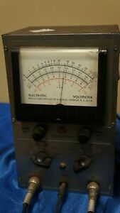 Rca Voltohmyst Type 195a With Probes Vintage Volt Meter As Is Untested