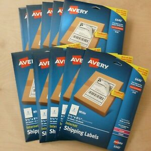 500 Ct Avery Internet Shipping Labels 5 5 X 8 5 White Laser Inkjet Trueblock