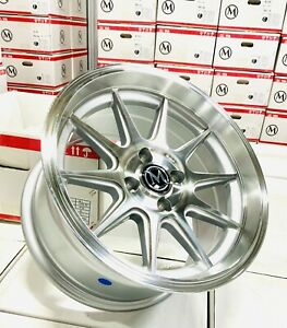 15 Rims 4 100 20 Wheels Fits Acura Integra Civic 15x8 25 Set 4