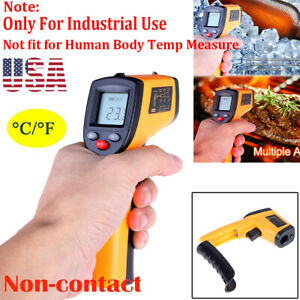 Non contact Laser Infrared Thermometer Digital Lcd Temperature Gun Pyrometer
