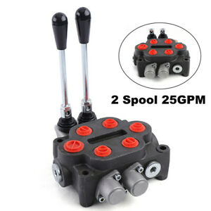 2 Spool Hydraulic Double Acting Control Valve 25 Gpm Tractors Loaders 90l min