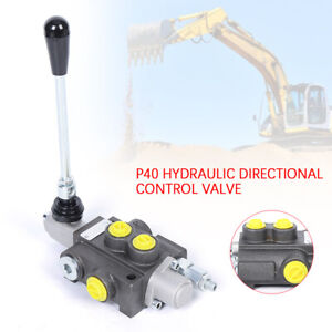 Hydraulic Directional Control Valve Tractor Loader W Joystick 1spool 11 Gpm