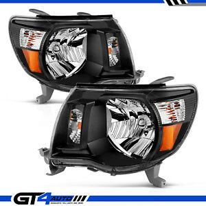 For 2005 06 07 08 09 10 2011 Toyota Tacoma Trd Style Black Replacement Headlight