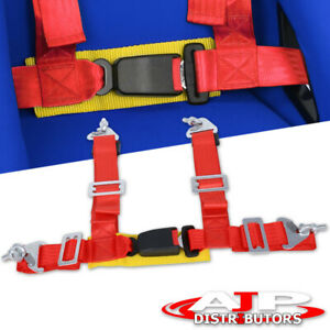 For Jeep Offroad 2 Nylon Racing 4pt Shoulder Harness Safety Buckle Seat Belt Rd