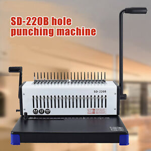 45 31 50cm Comb Binding Machine 400 Sheets Paper Punch Binder Letter Size A4