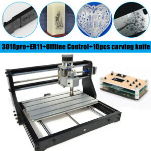 3018pro Cnc Machine Router Offline 3 Axis Engraving Pcb Wood Carving Diy Milling