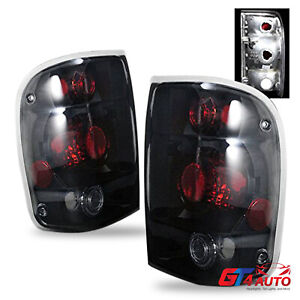 Altezza Style Black Smoke Rear Brake Tail Lights Pair For 1998 2000 Ford Ranger