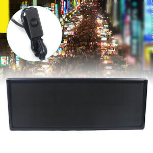 Full Color P5 Led Sign Programmable Scrolling Message 38 X 12 Inch Display New