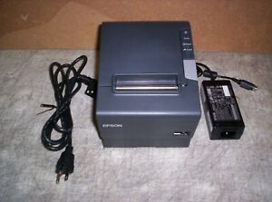 Epson Tm t88v Thermal Receipt Printer With Power Supply Ethernet M244a