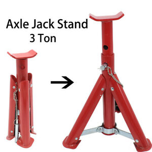 Us Axle Jack Stand 3 Tons Adjustable Performance Heavy Duty Handle Lock Support