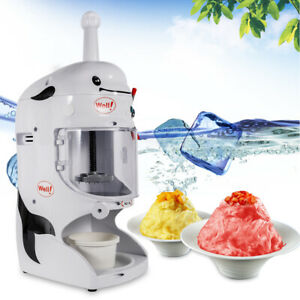 Commercial Shaved Ice Machine Electric Ice Shaver Snow Cone Maker 350w 90kg h Us