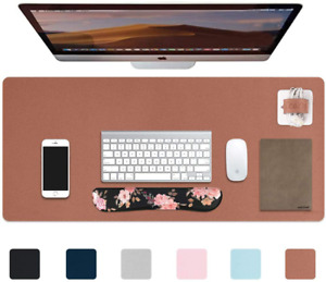Icasso Desk Pad Waterproof Pu Leather Desk Blotter Protector Mouse Pad Smooth