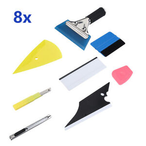 8 Car Window Tint Tools Kit Scraper Squeegee For Auto Film Tinting Installation