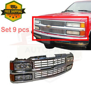 For 94 99 Chevrolet C1500 Suburban Grille Chrome Signal Side Marker Headlight 9p