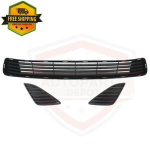 Front Bumper Lower Grille Insert Fog Hole Cover Lh Rh For 2012 2014 Toyota Camry