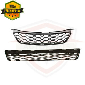 For 2009 2014 Toyota Matrix Front Bumper Upper Lower Grille Radiator Pair 2pc