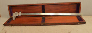 Brown Sharpe No 570 Collectible Vernier Caliper 25 With Wood Box Inspection