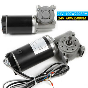 Dc 24v Right Angle Electric Worm Gear Motor Door Encoder Brushed