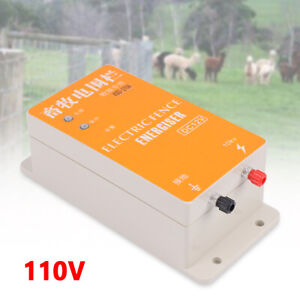 12v Electric Solar Fence Energizer Charger Fit Animals Poultry Controller