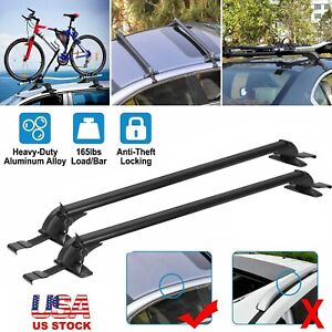 Universal Car Top Roof Rack Cross Bar 43 3 Luggage Carrie Adjustable Aluminum P