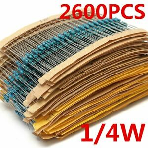 Metal Film Resistors Assorted Pack Kit Convenient Automatic Insertion Accessory