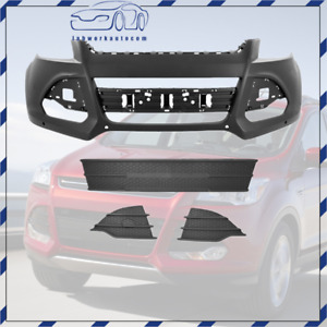 For 2013 16 Ford Escape Front Bumper Cover Front Lower Grille Fog Lamp Cover