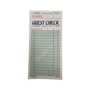 12 Packs Of Single Guest Check Book 50 Per Book