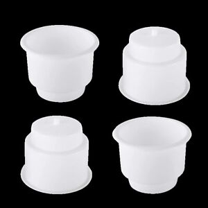 4 Pack White Universal Plastic Cup Drink Insert Holder For Car Truck Boat Marine