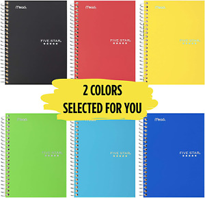 Five Star Spiral Notebooks 1 Subject College Ruled Paper 100 Sheets 7 X 5