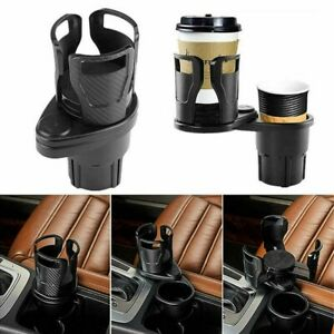 Car Seat Cup Holder Expander 2 In 1 Drinking Bottle Organizer 360 Rotating Us
