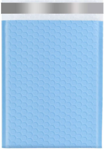 Keepack 6x10 50 Pack Bubble Mailers Small Durable Padded Envelopes Light Blue