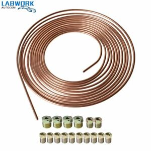 Copper Nickel Brake Line Tubing Kit 3 16 Od 25 Foot Coil Roll All Size Fittings