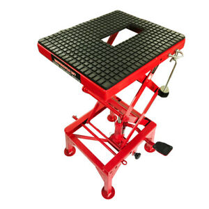 300lb Motorcycle Table Hydraulic Scissor Floor Jack Atv Dirt Bikes Lift Table