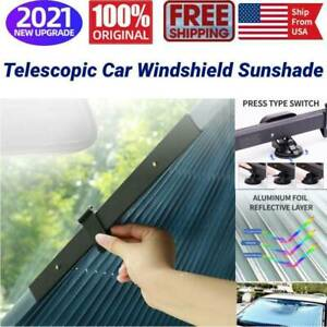 Us Retractable Car Windshield Sun Shade Visor 46cm Car Rear Window Block Cover