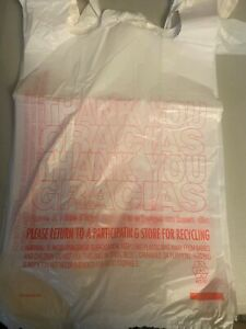 Bags 1 6 Large 21 X 6 5 X 11 5 Thank You T shirt Plastic Grocery Shopping Bags