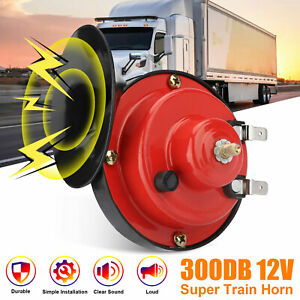 12v 300db Super Loud Train Horn Waterproof For Motorcycle Car Truck Suv Boat Red