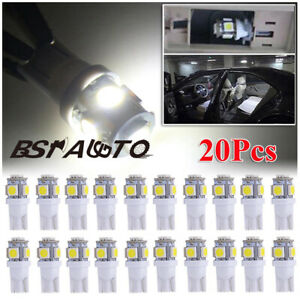 20 X T10 168 194 Combo Led Car Interior Dome Map Door License Plate Lights White