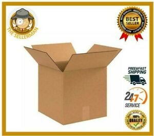 Corrugated Shipping Boxes 25 Pack 12x12x12 Kraft Packing Moving Easier Stacking