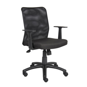 Boss Task Chair 25 In Width Big And Tall Black Fabric Comfortable Swivel Seat